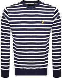Lyle & Scott Breton Stripe Sweatshirt - Blue