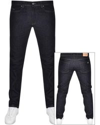 Lacoste Mens Mid Dark Wash Slim Fit Jeans
