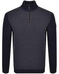 BOSS by Hugo Boss Zolight Half Zip Sweater - Blue