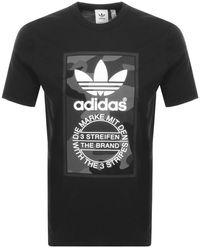 adidas Originals Camo Logo T Shirt - Black