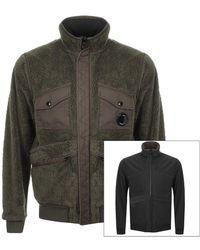 C P Company Cp Company Reversible Soft Shell Jacket - Green