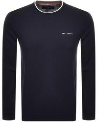 Ted Baker Rolli Crew Neck Sweatshirt - Blue