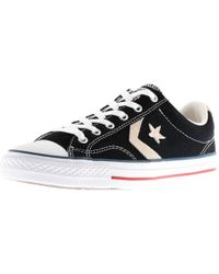 Converse - Cons Star Player Ox Trainers Black - Lyst