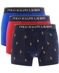 Ralph Lauren Underwear 3 Pack Boxer Shorts - Red