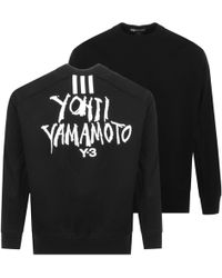 Y-3 Oversized Logo Sweatshirt Black