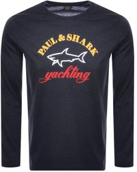 info for c2e15 66bed Paul And Shark Long Sleeve Logo T Shirt Black