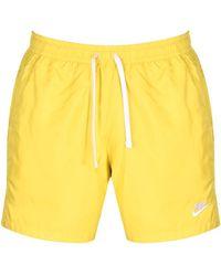 Nike Flow Logo Swim Shorts - Yellow