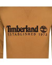 Timberland - Crew Neck Logo Sweatshirt - Lyst