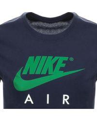 brand new 4feee 96838 Nike - Air 3 Short Sleeved Logo T Shirt Navy - Lyst