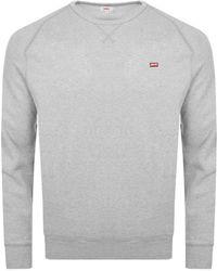 Levi's - Crew Neck Sweatshirt Grey - Lyst