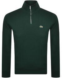 Lacoste Half Zip Logo Sweatshirt - Green