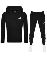 PUMA Hooded Logo Tracksuit - Black