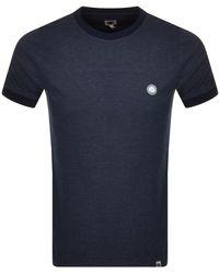 Pretty Green Birdseye Tipped T Shirt - Blue