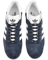 adidas Originals Leather Gazelle Trainers In White Bb5503 for Men ...