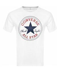 Converse Chuck Taylor Logo T Shirt - White