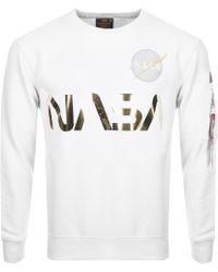 White Sweatshirt Reflective Reflective Nasa Nasa Nasa White Reflective Sweatshirt wnm8N0v