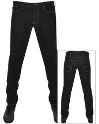 Emporio Armani Emporio J21 Regular Fit Jeans - Black