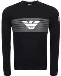 EA7 - Crew Neck T Shirt Black - Lyst