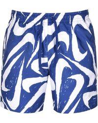 Nike Flow Logo Swim Shorts - Blue