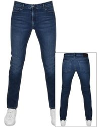 HUGO 734 Extra Slim Jeans - Blue