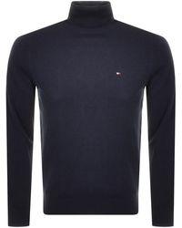 Tommy Hilfiger Roll Neck Sweater - Blue