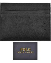 Ralph Lauren - Leather Card Holder Black - Lyst