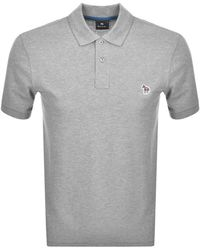 Paul Smith Ps By Regular Polo T Shirt - Gray
