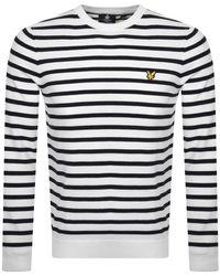 Lyle & Scott Breton Stripe Sweatshirt - White