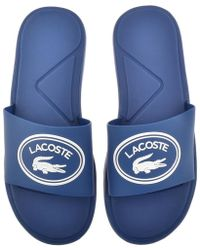 Lacoste - L30 Sliders Blue - Lyst