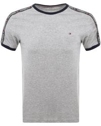 Tommy Hilfiger Loungewear Round Neck T Shirt - Gray