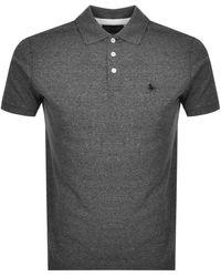 Jack Wills Bainlow Polo T Shirt - Gray