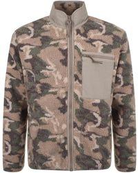 Penfield Natrick Fleece Full Zip Sweater Brown