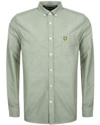 Lyle & Scott - Lyle And Scott Long Sleeve Oxford Shirt Green - Lyst