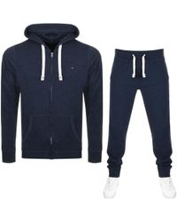 Tommy Hilfiger - Icon Tracksuit Navy - Lyst