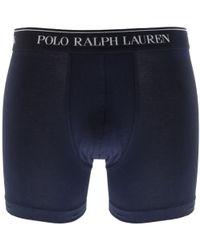 Ralph Lauren - Underwear 3 Pack Boxer Shorts Navy - Lyst