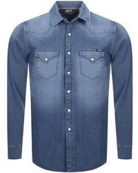 Replay Long Sleeved Denim Shirt - Blue