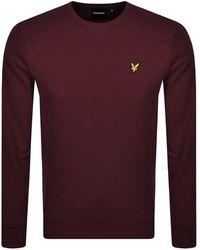 Lyle & Scott Crew Neck Sweatshirt Burgundy - Purple