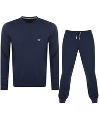 Armani Emporio Lightweight Lounge Set - Blue