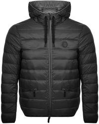 Armani Exchange Hooded Down Jacket - Black
