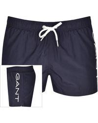 GANT Logo Swim Shorts - Blue