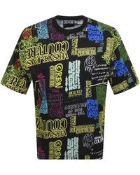 Versace Jeans Couture Couture Logo T Shirt - Black