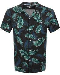 Jack Wills Abbotsham All Over Print Shirt - Black