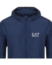 EA7 Full Zip Hooded Jacket Blue