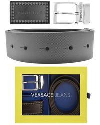 df5e869c Versace Jeans Logo Tonal Belt in Black for Men - Lyst