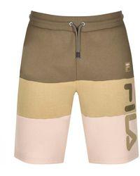 Fila Stu 2 Cut And Sew Logo Shorts - Natural