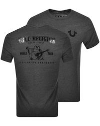 True Religion Buddha Logo T Shirt - Gray