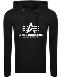 Alpha Industries Long Sleeve T Shirt In - Black