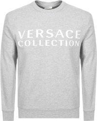 Versace Crew Neck Sweatshirt Gray