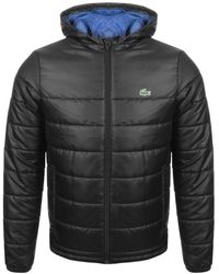 Lacoste Sport Full Zip Quilted Jacket Black