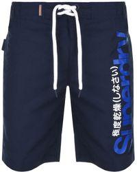 Superdry - Beach Volley Swim Shorts Navy - Lyst
